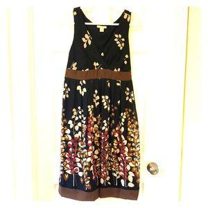 Jonathan Martin pleated Navy floral swing dress